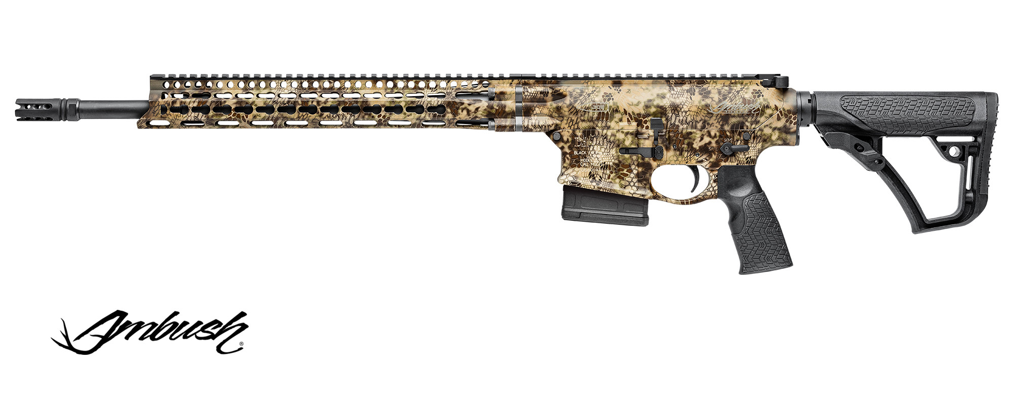 Puška Daniel Defense DD5 V1 Ambush Kryptec Highlander, .308 Win. (7,62x51), 18""