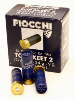 Brokový náboj Fiocchi TT Two Skeet 12/70/12, 2 mm, 24 g